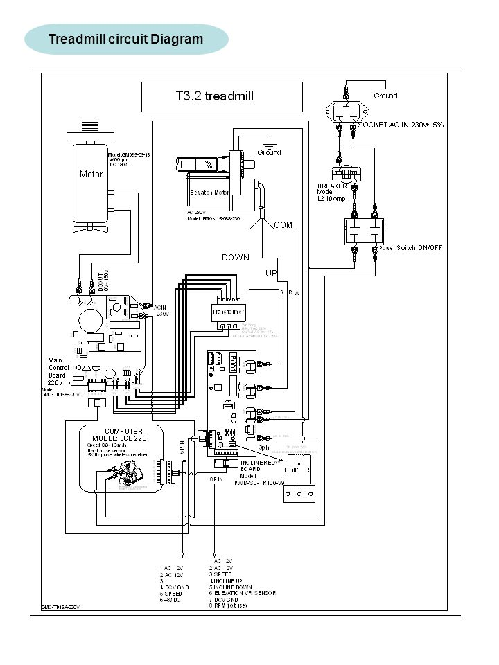 Treadmill Motor Wiring Diagram Testing Procedures : 49