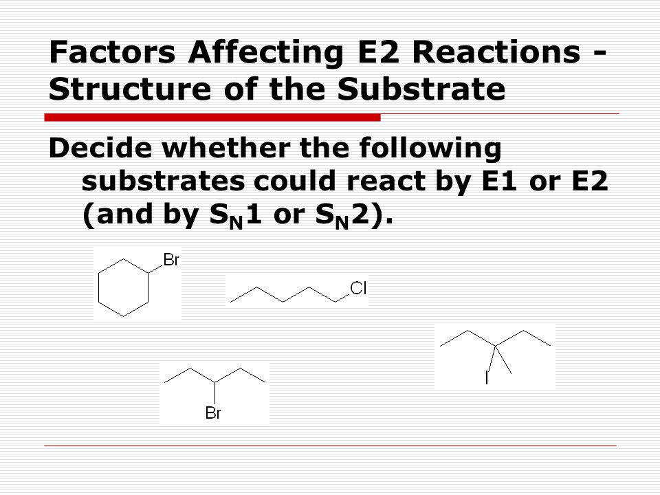 Unit /11/2017 E2 Reactions E2 = elimination, bimolecular