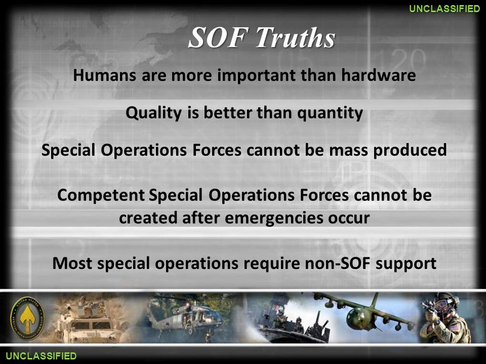 SOF C4 One Force One Environment Mr John A Wilcox