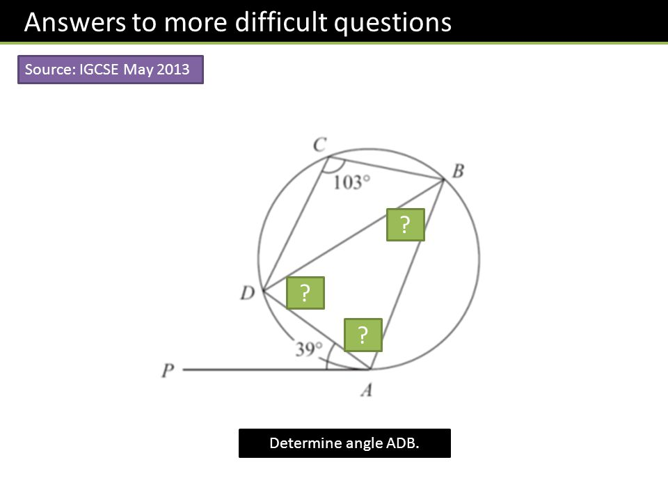Dr J Frost GCSE Circle Theorems Dr J Frost Last modified