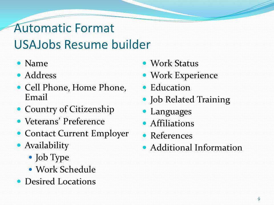 Federal Resume Writing Workshop Ppt Video Online Download