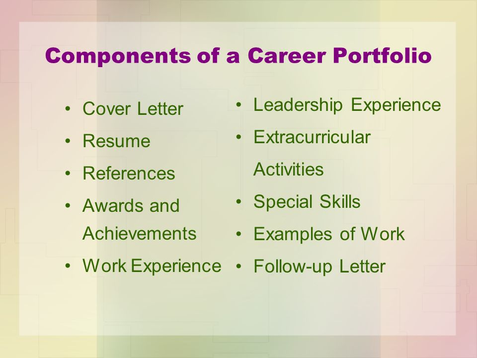 Career Portfolio Georgia GPS Standard FS CTAE 10 Career