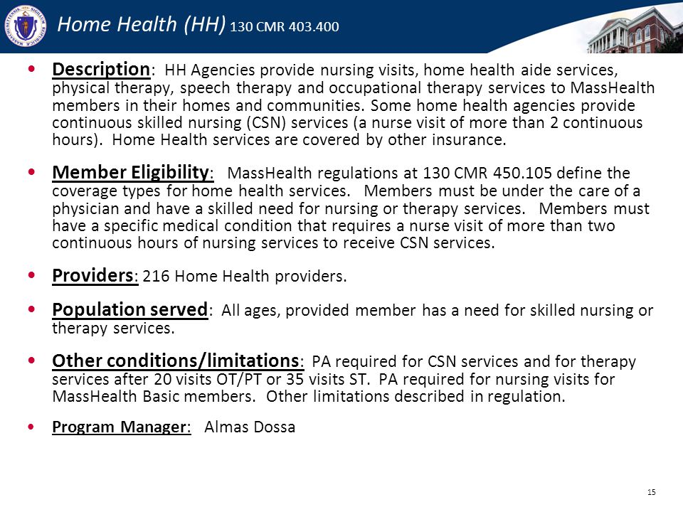 MassHealth Office of Long Term Services and Supports  ppt download