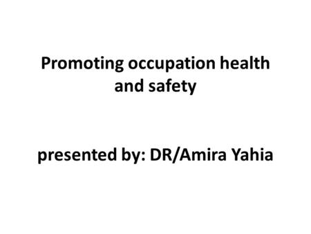 Prepared by Dr. Hoda Abd-El Azim. Objectives: Define the