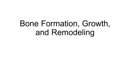 Chapter 4: The Biomechanics of Human Bone Growth and