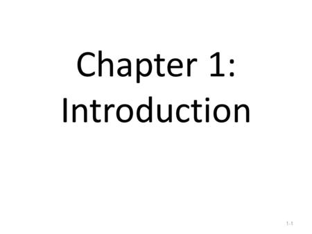Introduction Chapter 1 © 2013 by McGraw-Hill Education