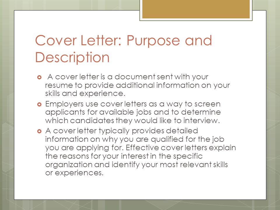 Job Application Letter Cover Letter Ppt Video Online
