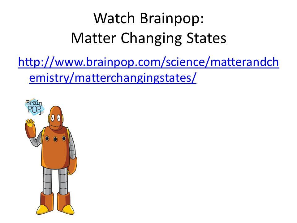 Brainpop States Matter Worksheet Answers