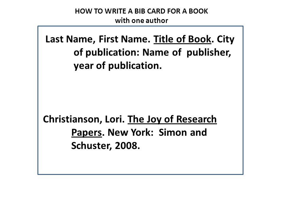 A Guide To Preparing Note Cards And Bibliography Cards Ppt Video