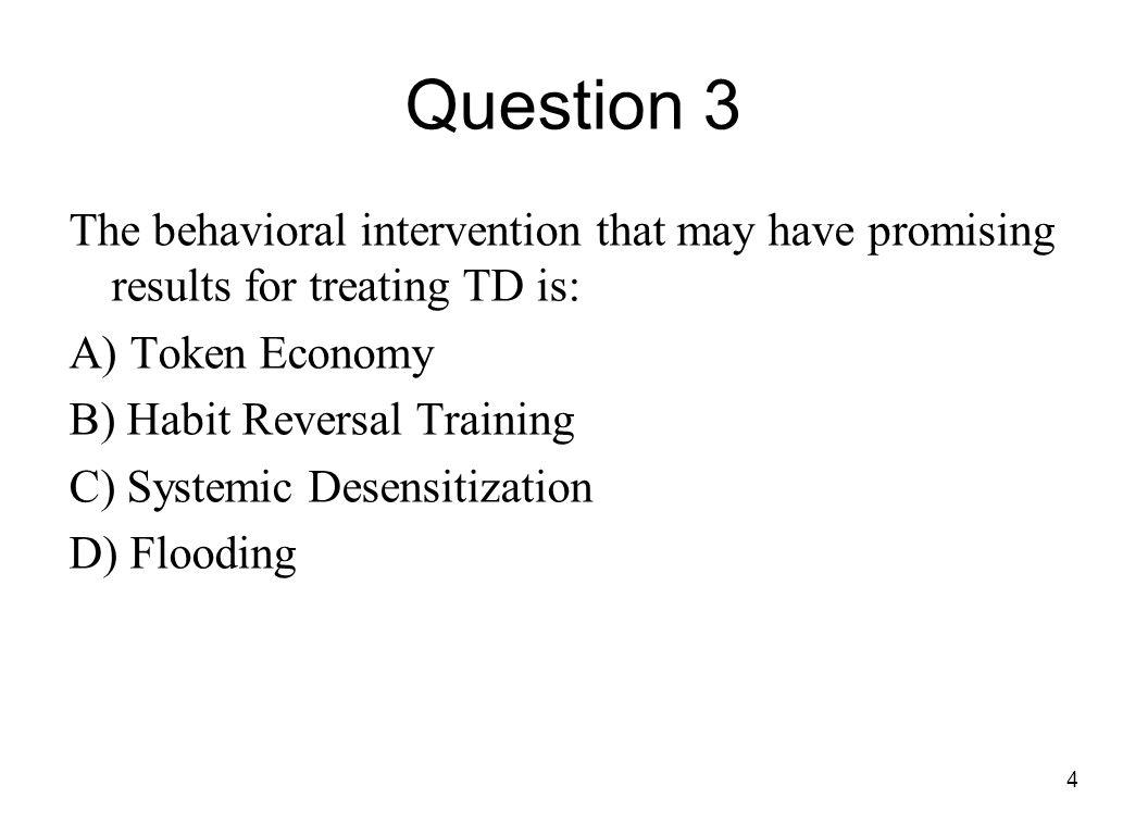 Habit Reversal Training Tics