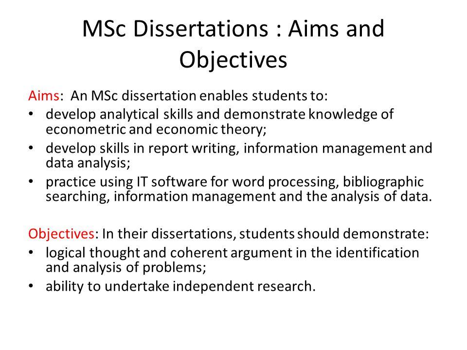 MSc Dissertation In Economics Ppt Video Online Download