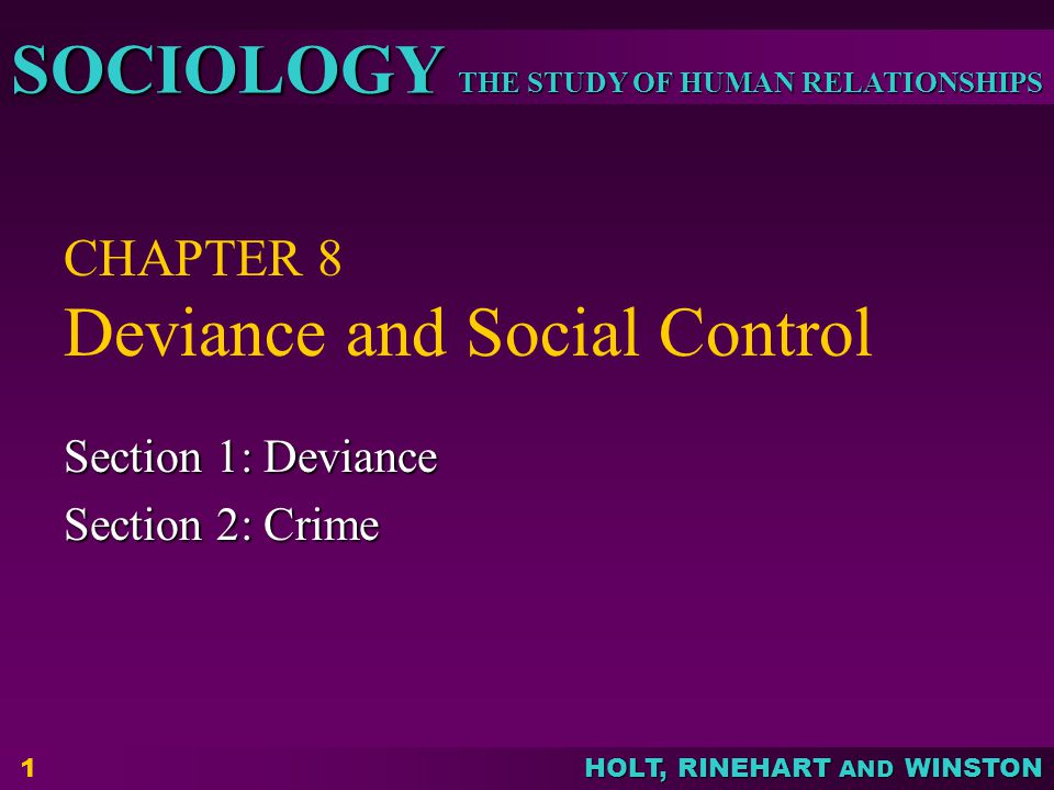 CHAPTER 8 Deviance And Social Control Ppt Video Online Download