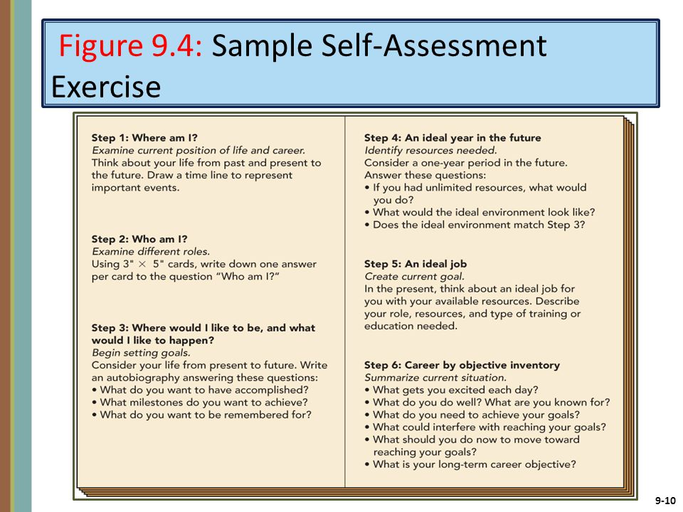 sample of employee self assessment