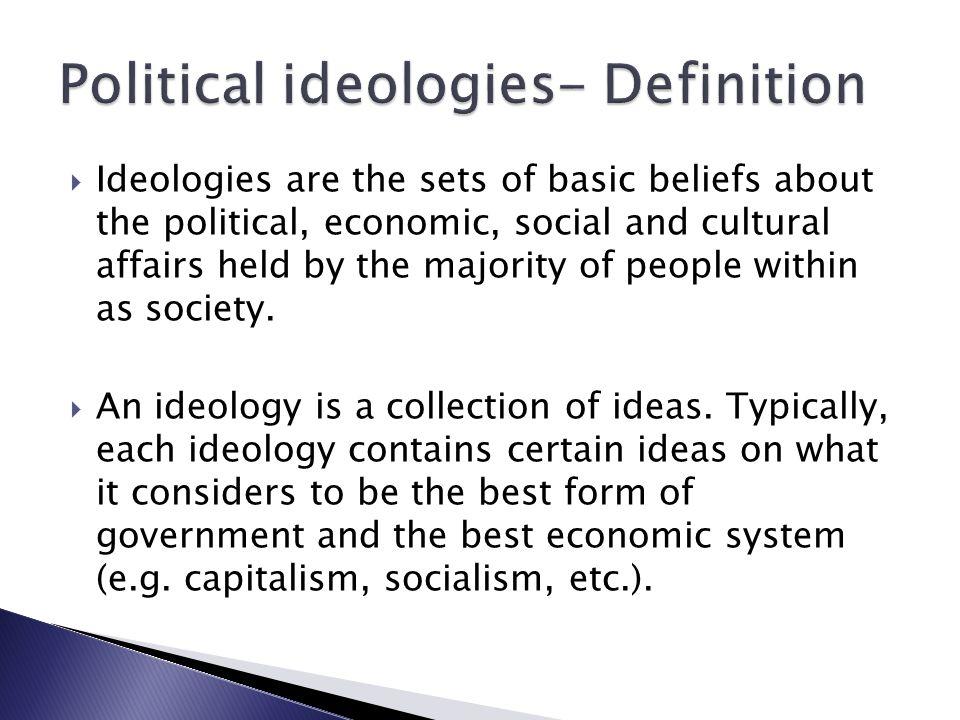 Ideologies Definition