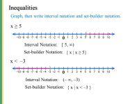 Printable Worksheets  Set Builder And Interval Notation ...