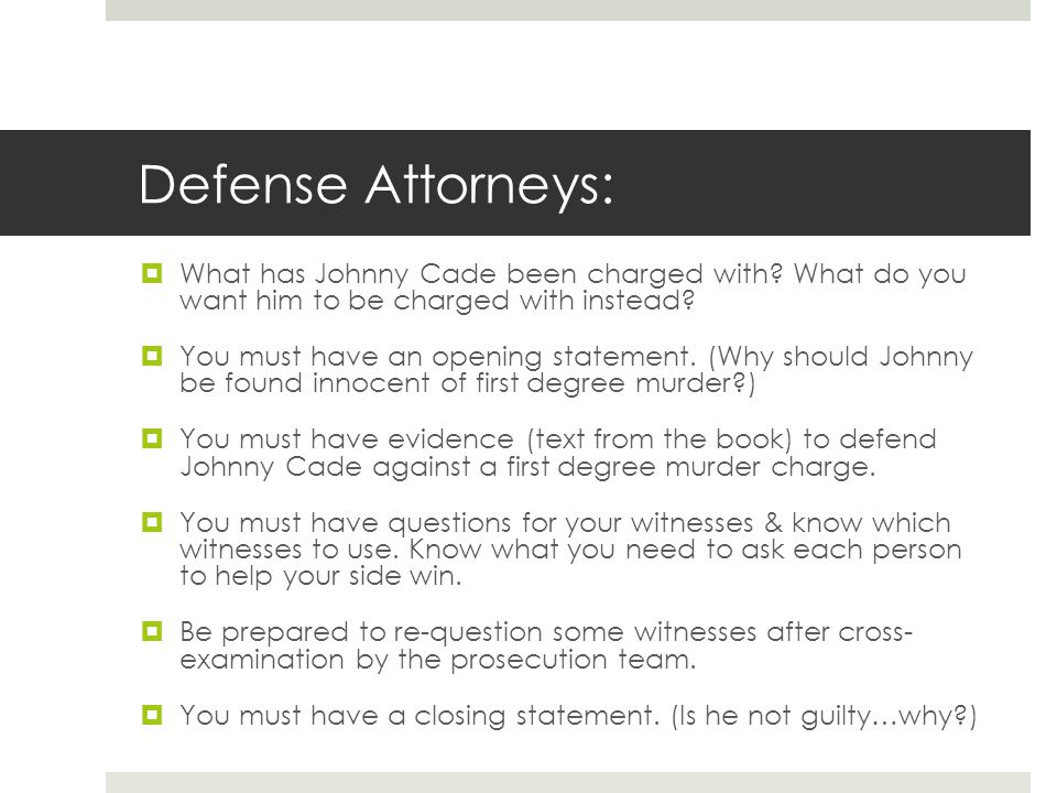 Opening Statement Examples Defense