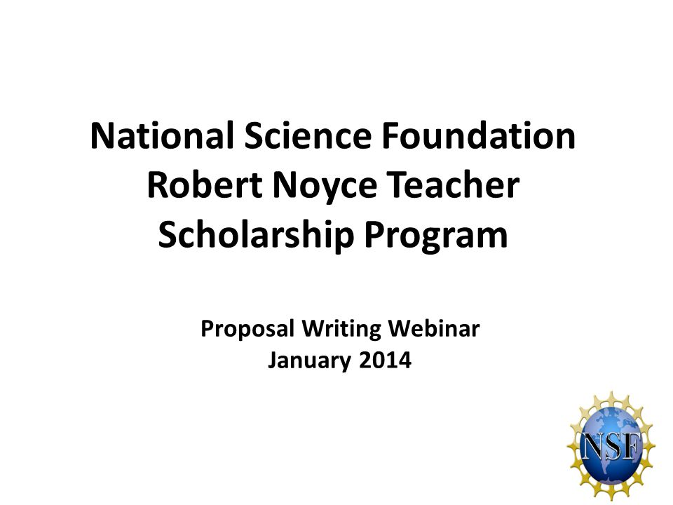 National Science Foundation Robert Noyce Teacher