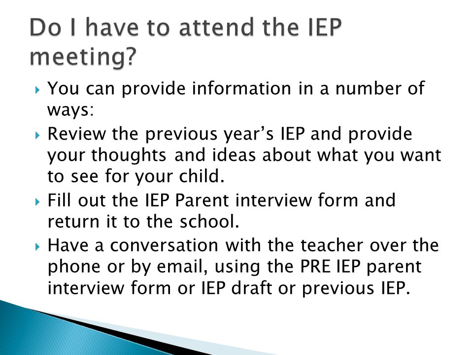 Parents Guide to the IEP  ppt video online download
