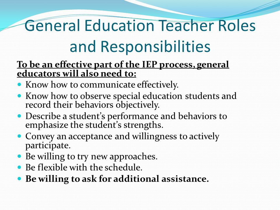 IEP and Collaboration in the General Education Classroom  ppt video online download