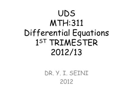 Ch 3.2: Solutions of Linear Homogeneous Equations