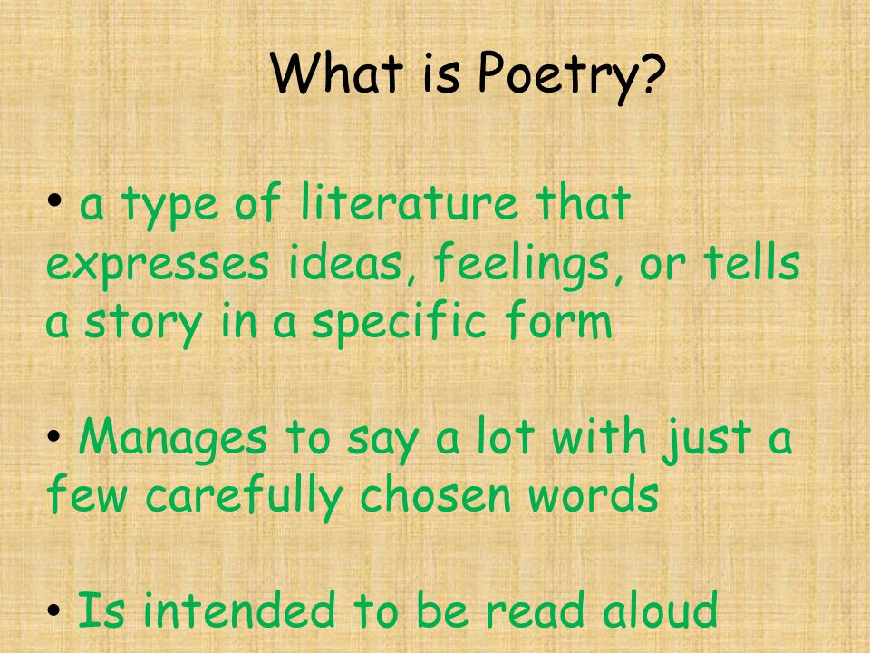 How Are Reading Writing And Poetry Related Ppt Video