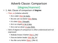 Adverb Clause Worksheet Photos