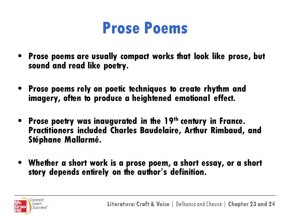 Essay prose university days