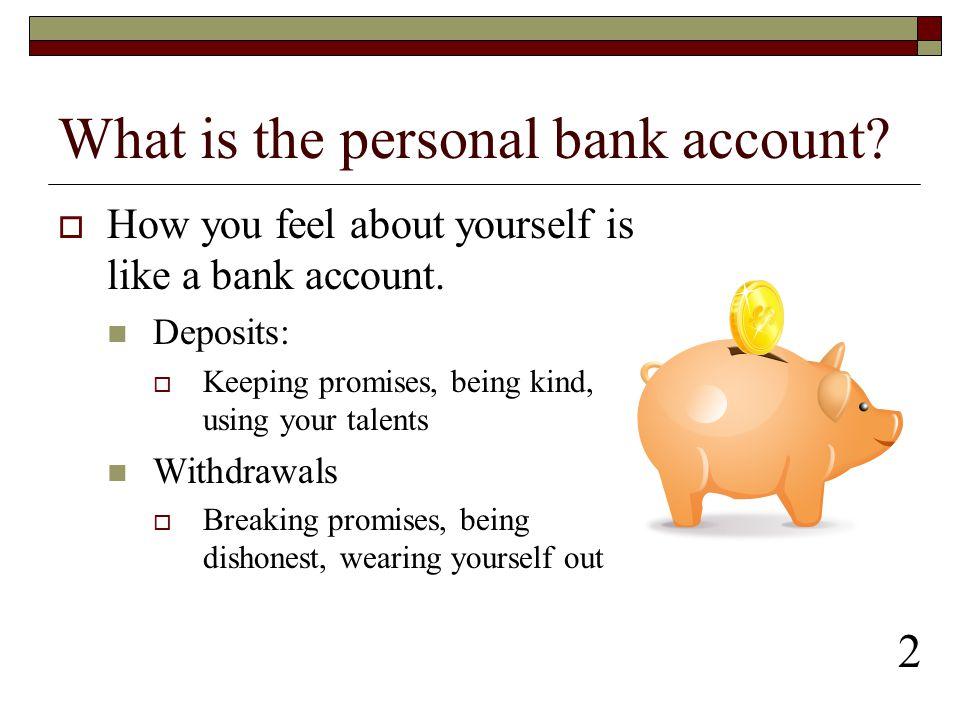 Personal Bank Accounts