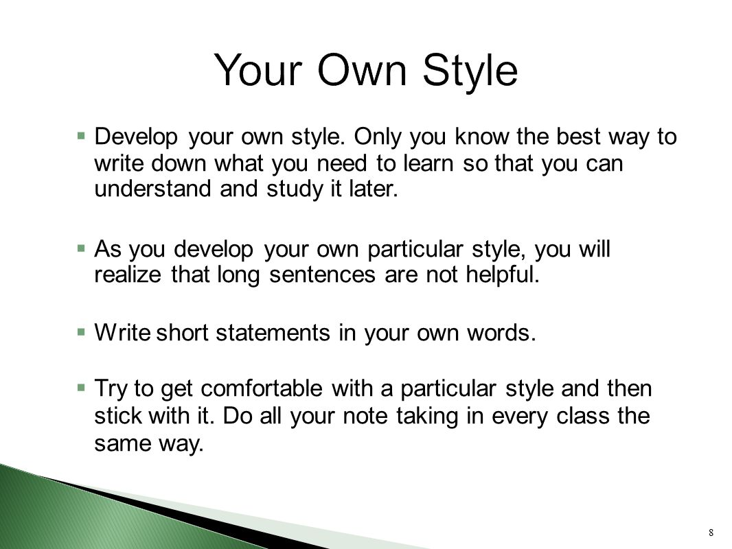 Taking Notes On Lectures  Ppt Video Online Download