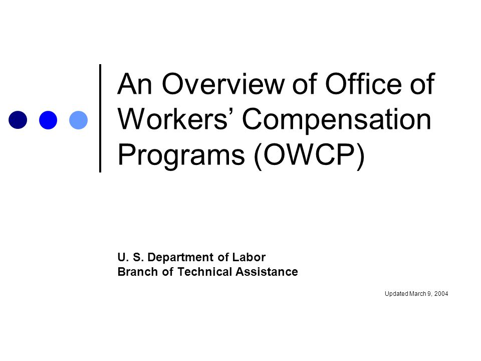 us department of labor workers compensation an overview of