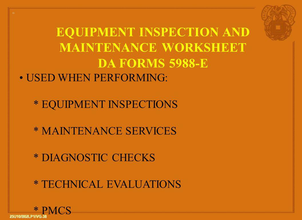 25u10 B02 Lp1 The Army Maintenance Management System
