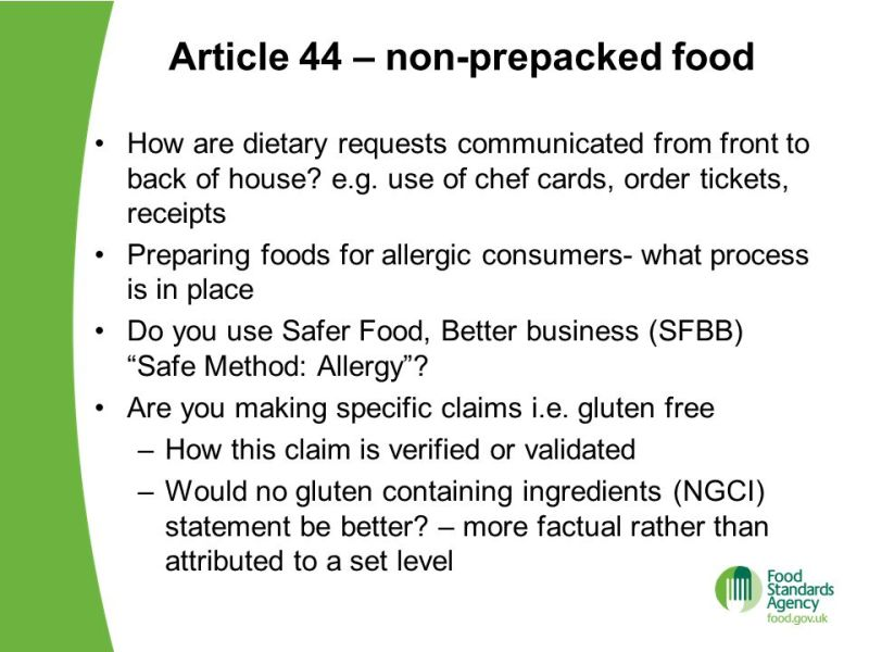 Food standards agency allergens chef recipe cards foodfash understanding the new food allergen rules ppt online forumfinder Choice Image