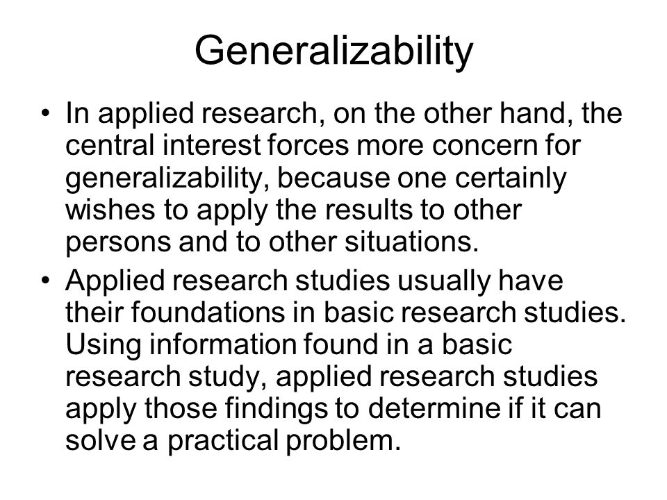Generalization In Research Paper College Paper Academic Writing