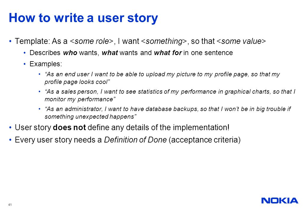 as a user i want user story template