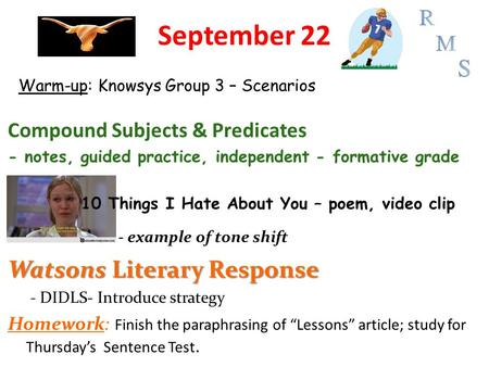 Warm Up Share Your Poem With Your Group Vocabulary And