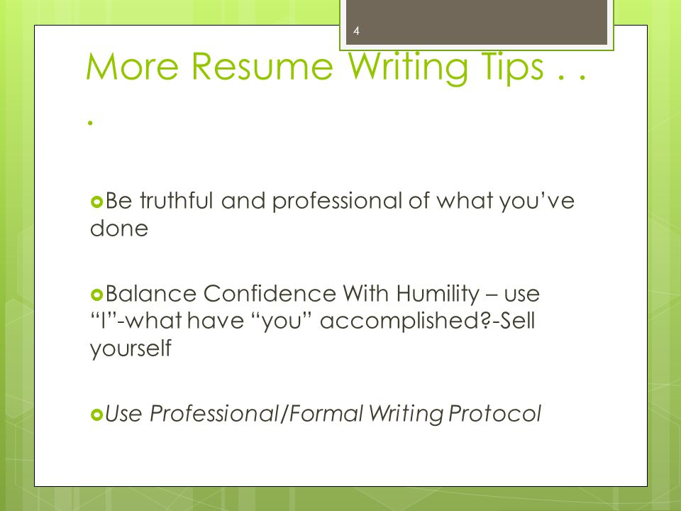 Writing Your Experiential Resume for the Intern Principal Preparation Program Application