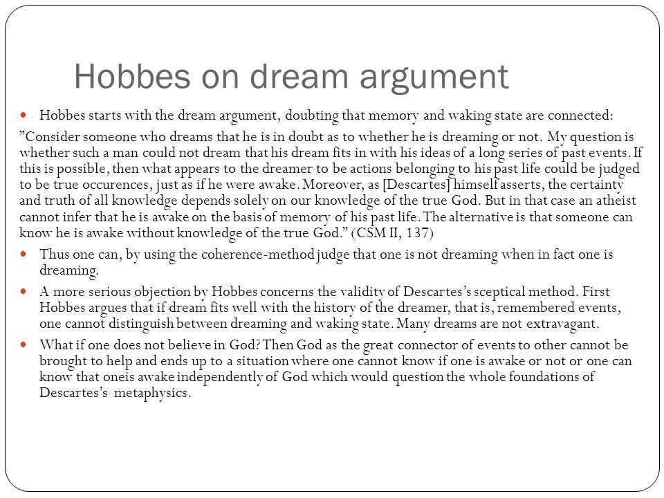 descartes dream argument