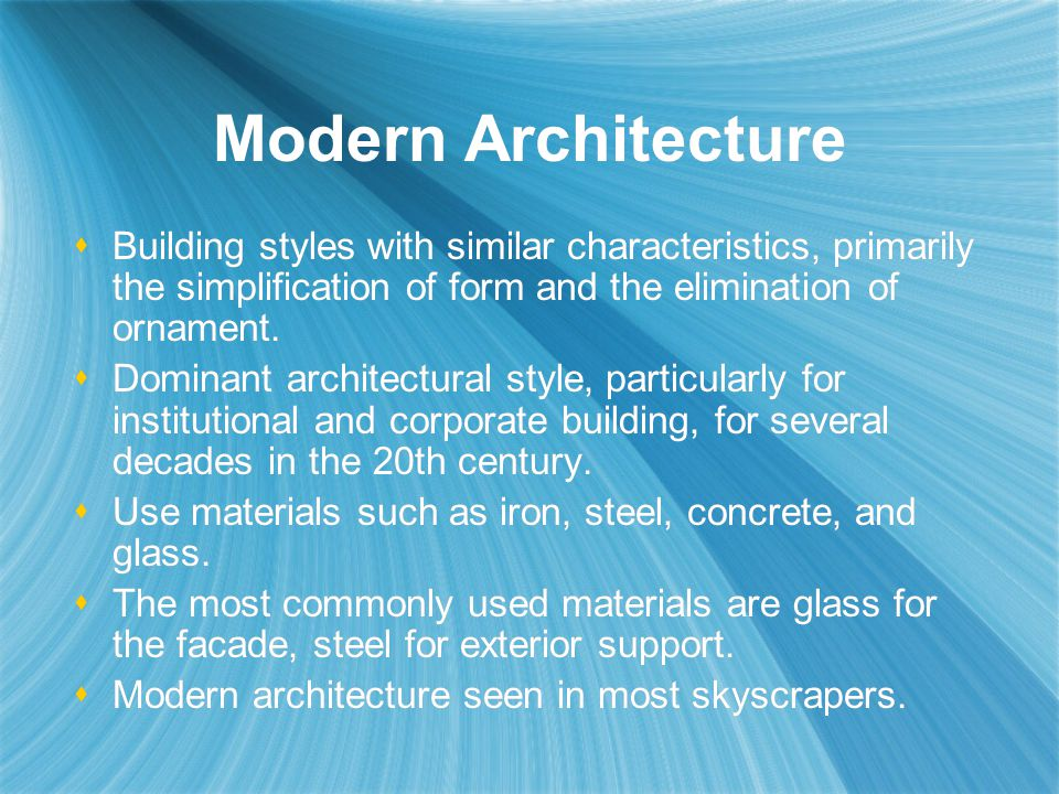 Styles of Architecture  ppt download