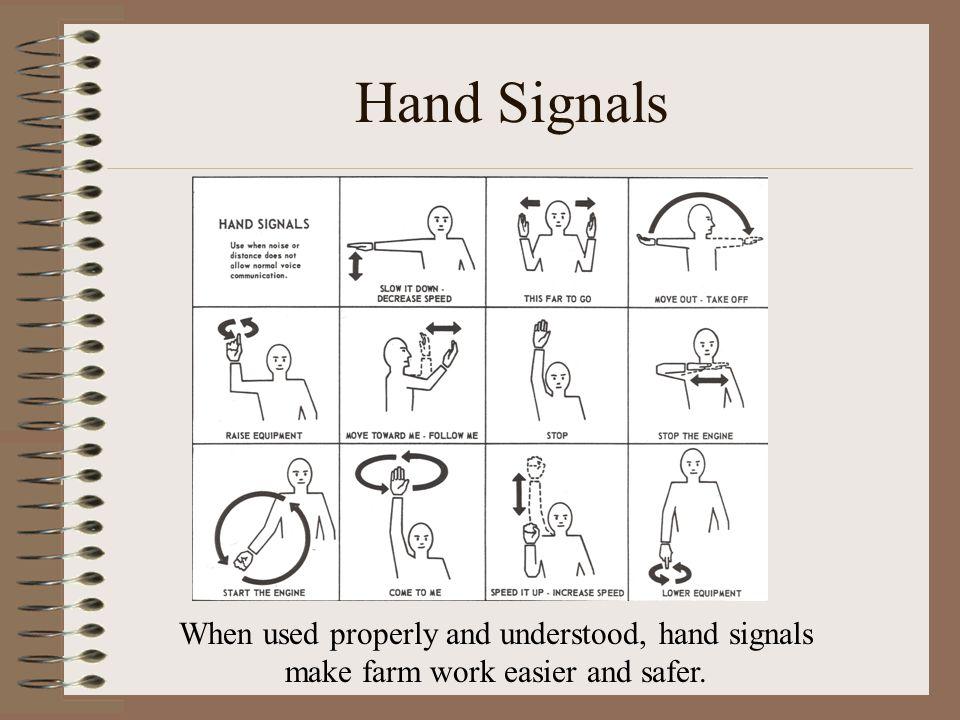 fork lift hand signals