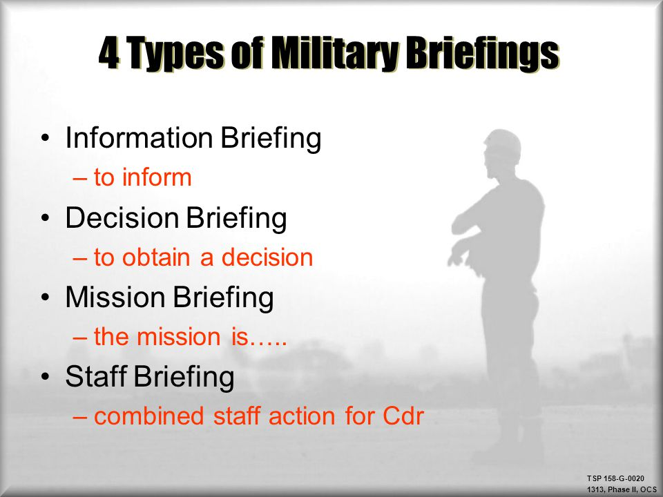 Army Mission Briefing Template