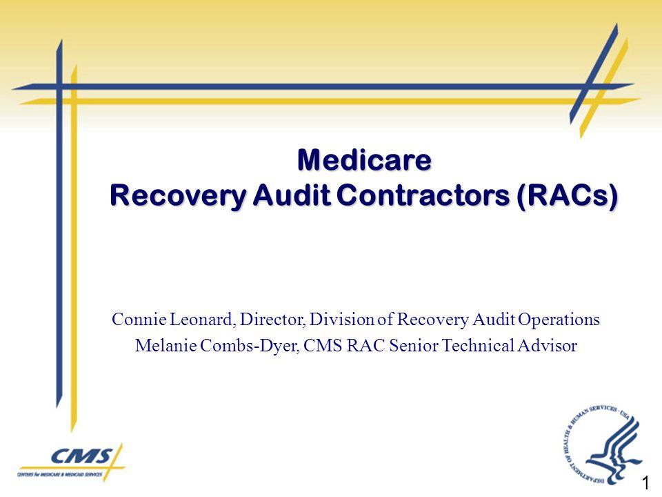 Medicare Recovery Audit Contractors RACs  ppt video online download
