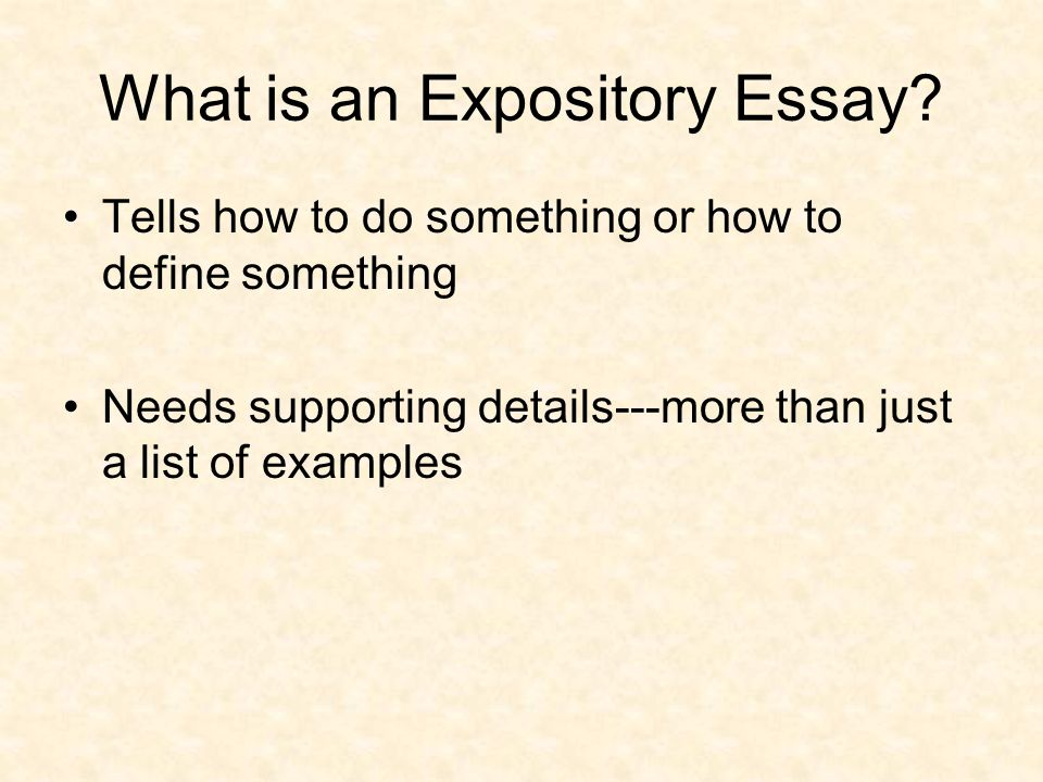 experience essay examples