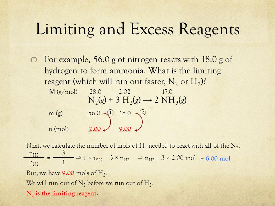 Section 123 Limiting Reagent And Percent Yield  Ppt Video Online Download