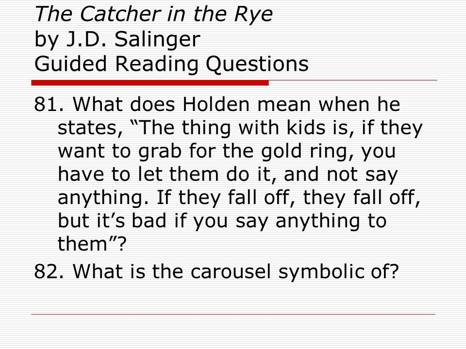 catcher in the rye carousel