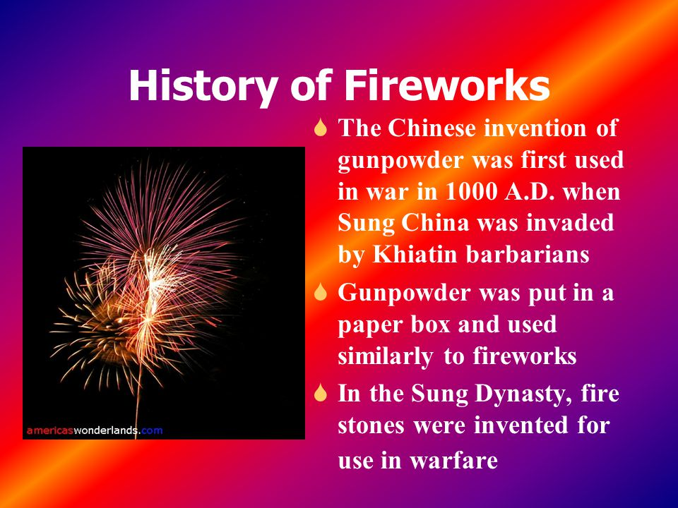Fireworks Invented China