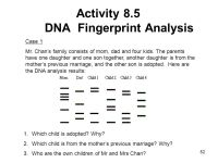 Dna Fingerprint Worksheet Worksheets For School