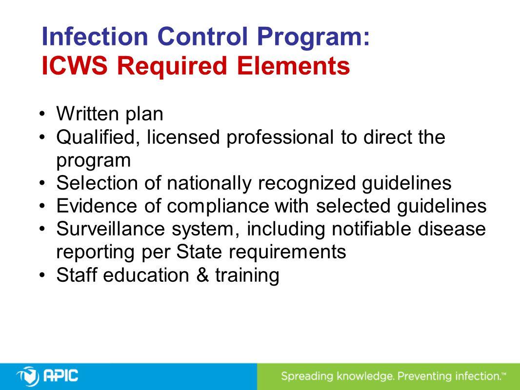Infection Control Surveyor Worksheet