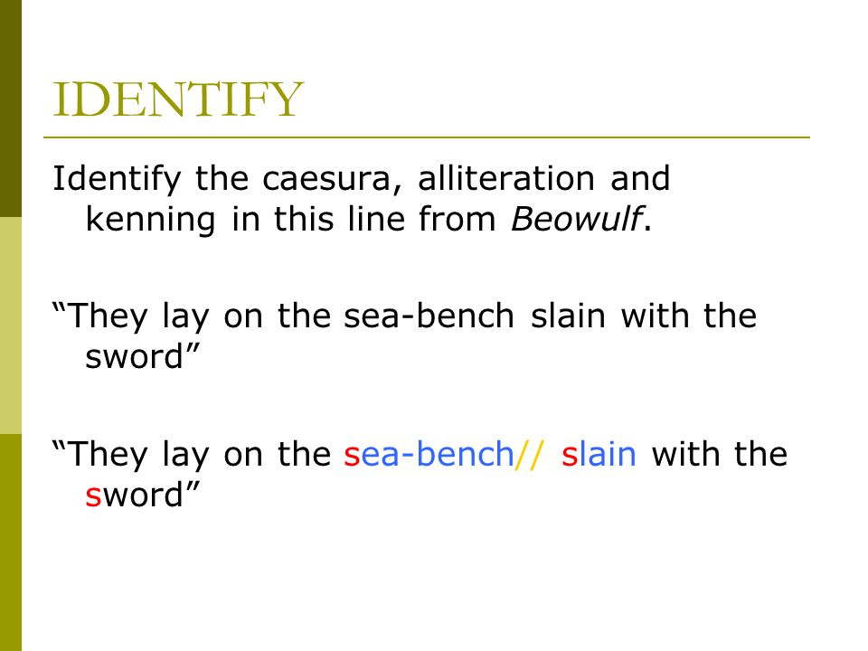 LITERARY TECHNIQUES BEOWULF Ppt Video Online Download