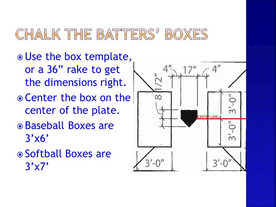 Youth Baseball Batters Box Dimensions