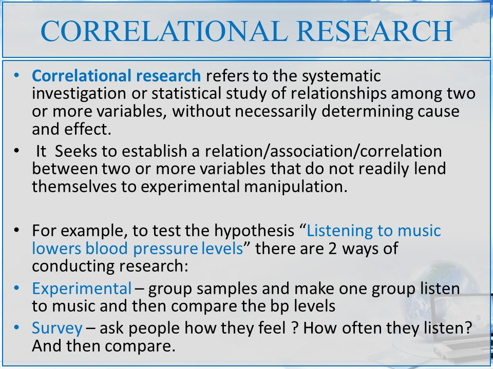 RESEARCH TYPES CS12D RESEARCH METHODS 2nd Class UNIVERSITY OF